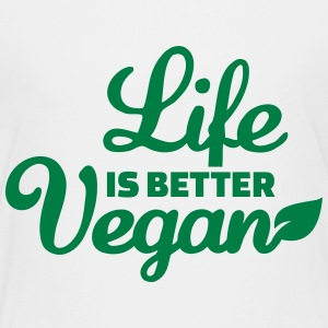 Life is better Vegan Kids' Shirts - Kids' Premium T-Shirt