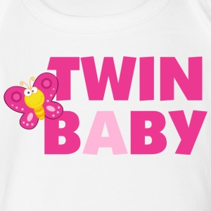 Twin Baby A - Short Sleeve Baby Bodysuit