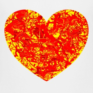 Burning Lava Heart T-Shirt. - Kids' Premium T-Shirt