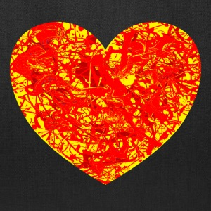 Big Lava Love Heart. Tote. - Tote Bag