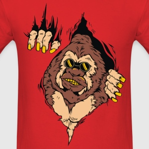 GORILLA CAME OUT FROM MEN T SHIRT - Men's T-Shirt