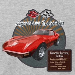 Classic car Chevrolet Corvette C3 1972 - Men's T-Shirt by American Apparel