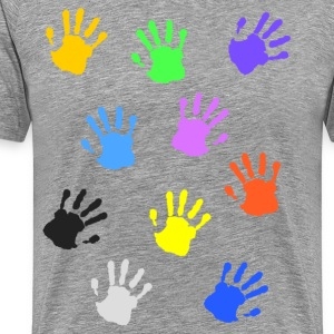 Colorful handprints Shirt - Men's Premium T-Shirt