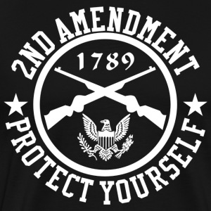 2ND Amendment Protect Yourself White US Custom Ink T-Shirts - Men's Premium T-Shirt