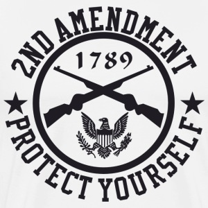 2ND Amendment Protect Yourself Black US Custom Ink T-Shirts - Men's Premium T-Shirt