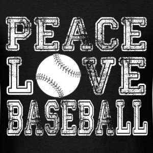 Peace, Love, Baseball T-Shirts - Men's T-Shirt
