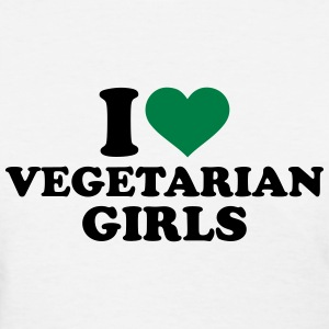 I love Vegetarian girls Women's T-Shirts - Women's T-Shirt