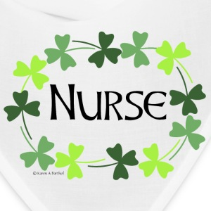 Nurse Shamrock Oval Caps - Bandana