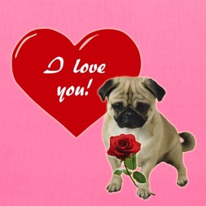 Valentine´s Day Pug Bags & backpacks - Tote Bag