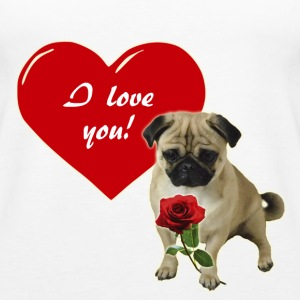 Valentine´s Day Pug Tanks - Women's Premium Tank Top