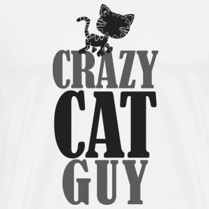 Crazy Cat Guy - Men's Premium T-Shirt