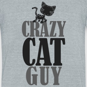Crazy Cat Guy - Unisex Tri-Blend T-Shirt by American Apparel