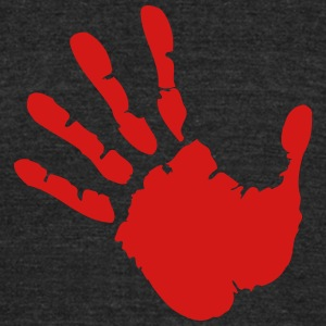 stop hand T-Shirts - Unisex Tri-Blend T-Shirt by American Apparel
