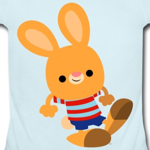 Cute Prankish Cartoon Rabbit by Cheerful Madness!! Baby & Toddler Shirts - Short Sleeve Baby Bodysuit