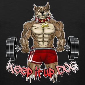 keep it up dog 2 - Men's Premium Tank
