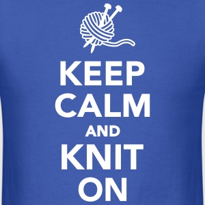 Keep calm and knit on T-Shirts - Men's T-Shirt