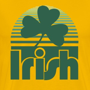 Retro Irish Shamrock - Men's Premium T-Shirt