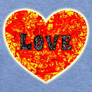 Burning Lava Love Heart. - Women's Wideneck Sweatshirt