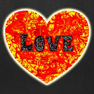 Burning Lava Love Heart. - Tote Bag