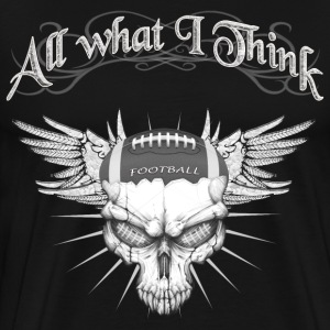 Football Skull T-Shirts - Men's Premium T-Shirt