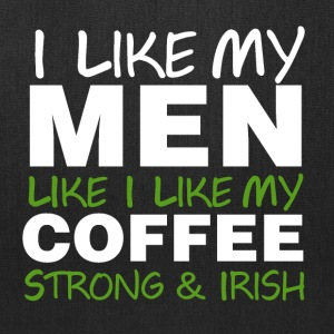 Irish men and coffee Bags & backpacks - Tote Bag