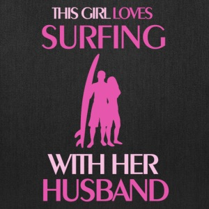 surfing married Bags & backpacks - Tote Bag