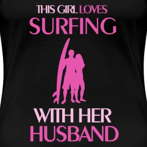 surfing married Women's T-Shirts - Women's Premium T-Shirt