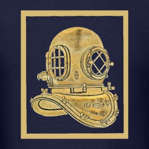 Vintage Brass Diving Helmet - Men's T-Shirt