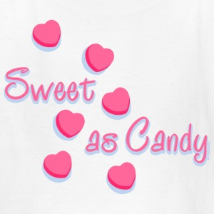 Sweet As Candy Valentine Kids' Shirts - Kids' T-Shirt