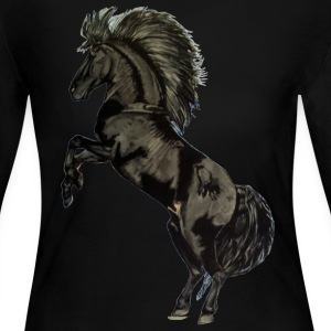 Black Stallion - Women's Long Sleeve Jersey T-Shirt