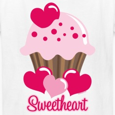 Sweetheart Cupcake Kids' Shirts