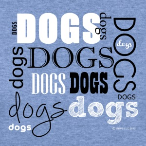 Dogs Words - Women's Wideneck Sweatshirt