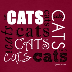 Cats Words - Men's T-Shirt