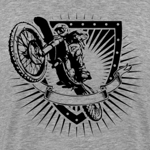 motocross shield T-Shirts - Men's Premium T-Shirt