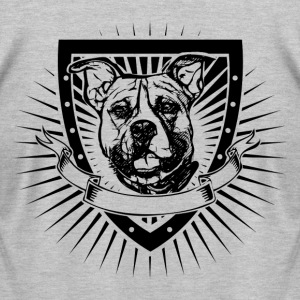 pitbull shield shirt - Men's T-Shirt by American Apparel