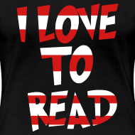 Design ~ I Love To Read | Red and White | Teacher Shirts Women's