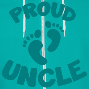 proud uncle with cute little baby maternity feet Zip Hoodies & Jackets - Unisex Fleece Zip Hoodie by American Apparel