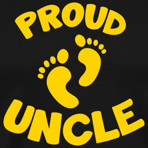 proud uncle with cute little baby maternity feet T-Shirts - Men's Premium T-Shirt