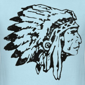 Men's Native American indian chief t shirt - Men's T-Shirt