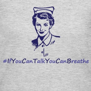 if you are talking you can breathe.png Long Sleeve Shirts - Women's Long Sleeve Jersey T-Shirt