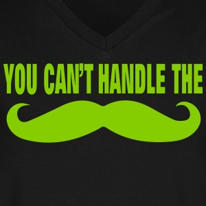 YOU CAN'T HANDLE THE BEARD T-Shirts - Men's V-Neck T-Shirt by Canvas
