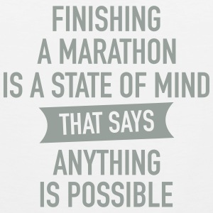 Finishing A Marathon Is A State Of Mind Tank Tops - Men's Premium Tank