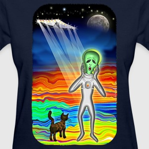 Alien Cat Scream. - Women's T-Shirt