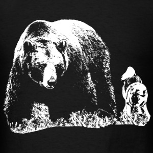 Bear and dog - Men's T-Shirt