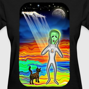 Alien Cat Scream - Women's T-Shirt
