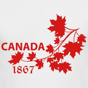 SHOULDER MAPLE LEAF canada BRANCH - Men's Long Sleeve T-Shirt by Next Level