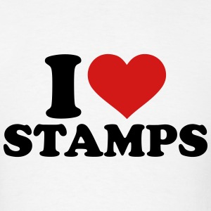 I love stamps T-Shirts - Men's T-Shirt
