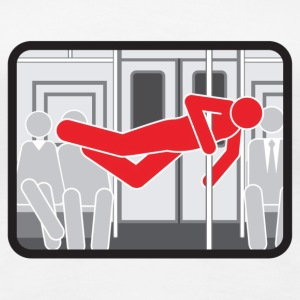 NYC  Subway Pole Dancer (red means bad) - Women's Premium T-Shirt