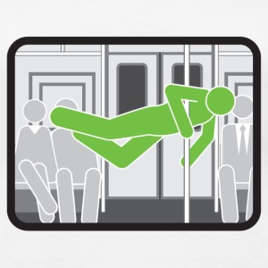 Subway pole dancer (green means good) - Women's Premium T-Shirt