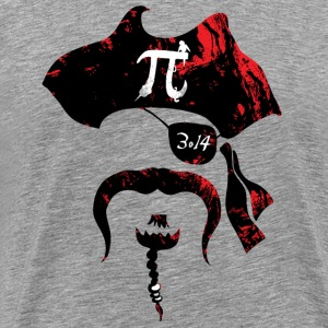 Irrational Pi Day Pirate - Men's Premium T-Shirt